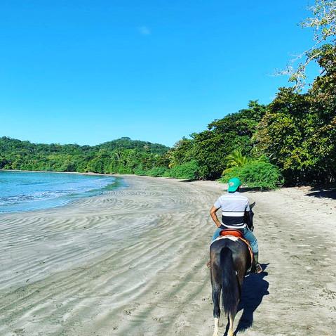 Horsebackriding on the island Boca Brava