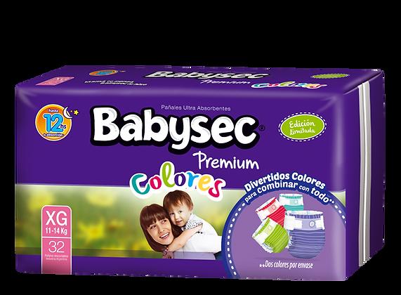 Babysec Premium Colores - Extra Grande