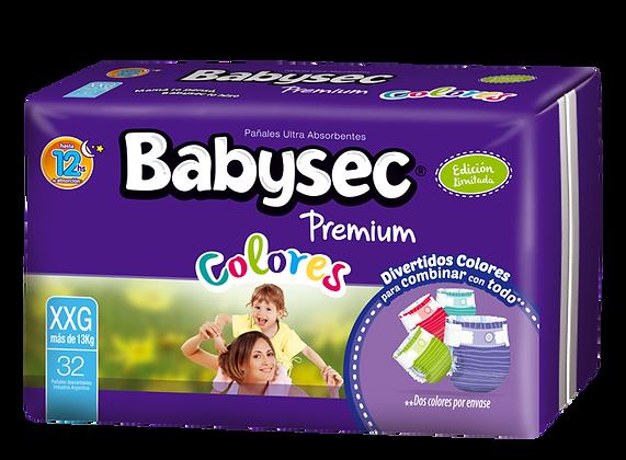 Babysec Premium Colores - Extra Extra Grande