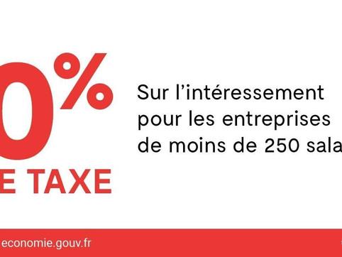 0 taxe sur l'intéressement