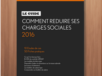 """REDUIRE SES CHARGES SOCIALES - Le Guide"" / 2016"