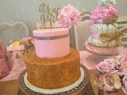 its a girl pink gold glitter