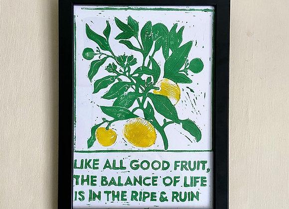 ripe & ruin print