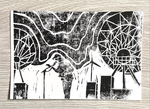 Ben Howard live at Goonhilly Station print