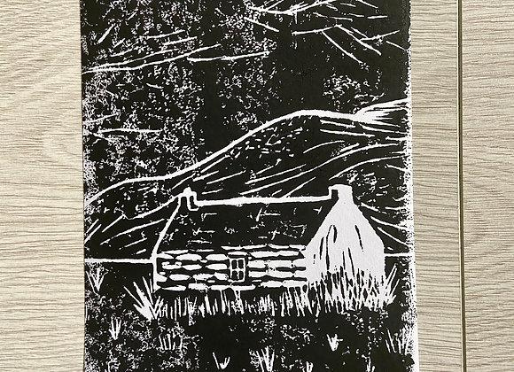 Old Scottish Cottage print
