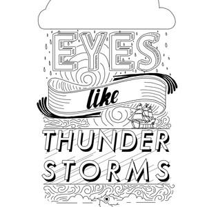 eyes like thunder storms