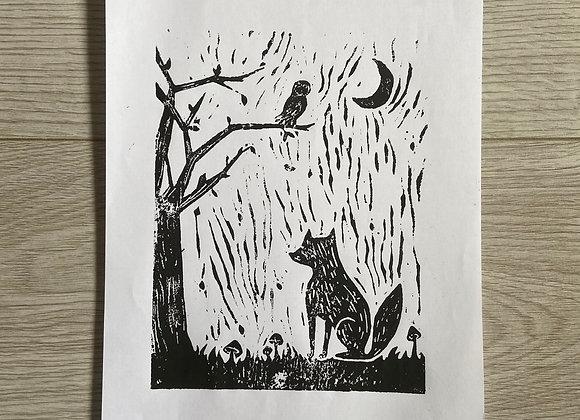 the fox + the owl print