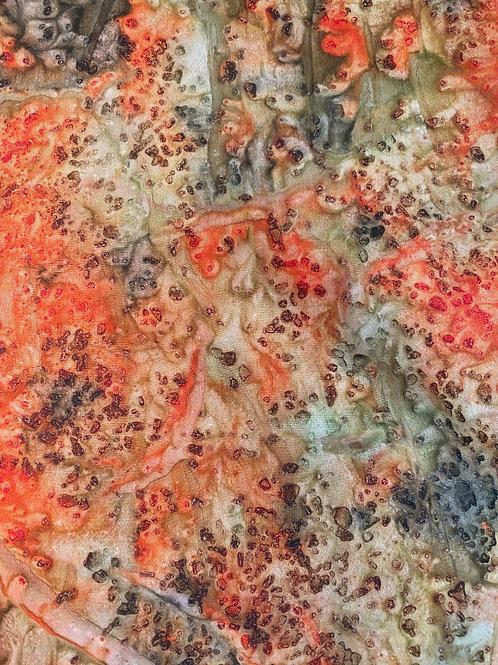 Prayer Scarf- Item 38 Mercer orange, tan, gray - small 7.5 x 52.5