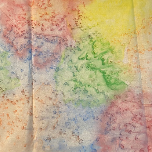 "Prayer Scarf Item 130 by Johnny, Rainbow - large, 11"" x 57.75"""