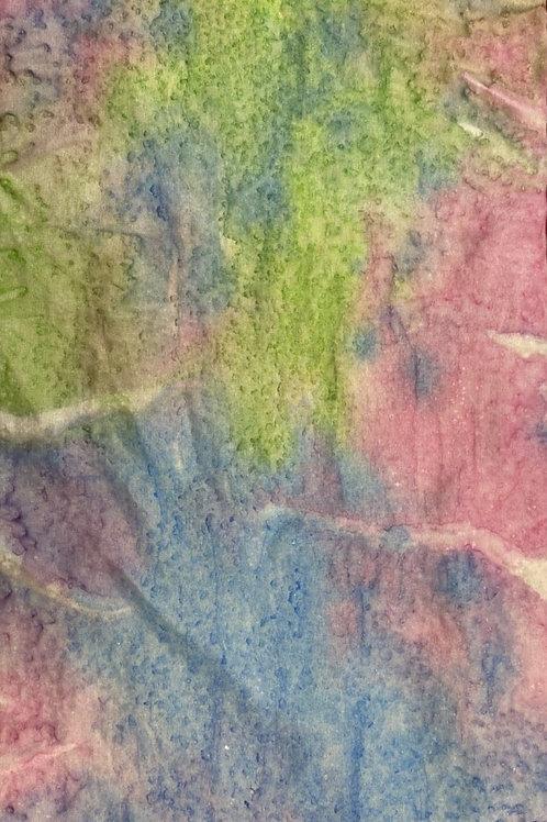 Prayer Scarf - Item 2 Pink, blue, green - Small, 8 x 53.5