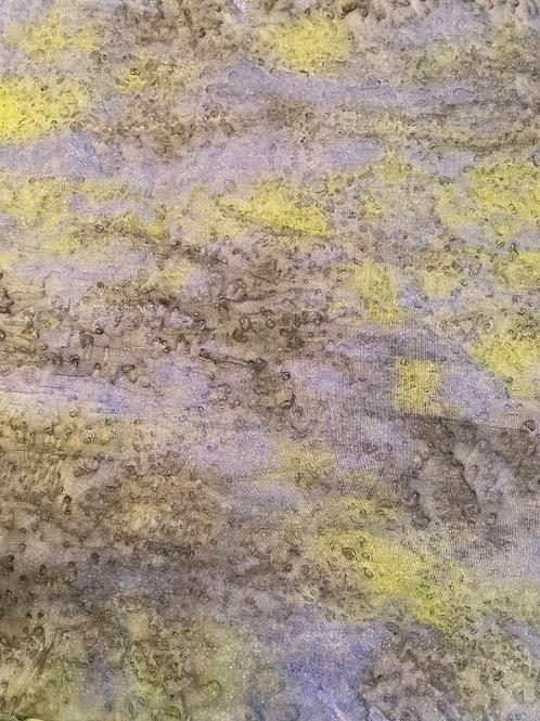 "Prayer Scarf- Item 86 Lavender, green, gray - large 11 x 58.5"""