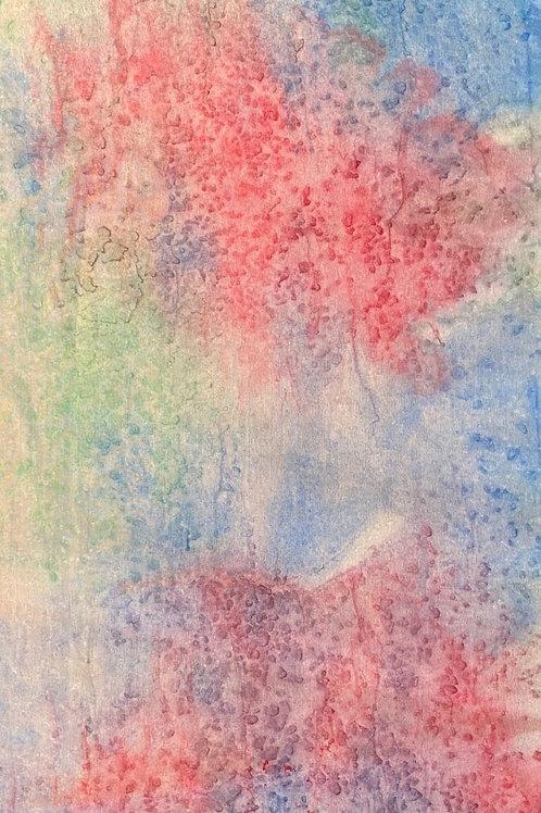 Prayer Scarf - Item 51 Blue, red, green-Small 8 x 53.5