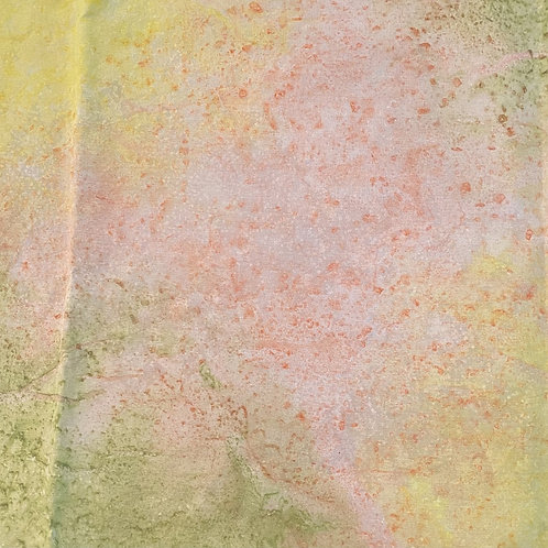 "Prayer Scarf Item 138 by Stuart Yellow, peach, green - large, 10.75"" x 58.5"""