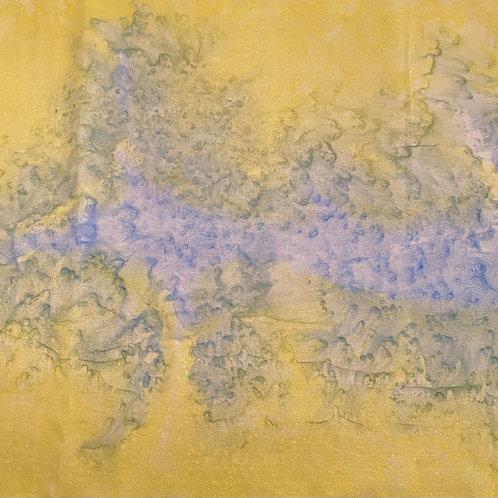 "Prayer Scarf Item 119 Yellow, blue - large, 10.25"" x 57.75"""
