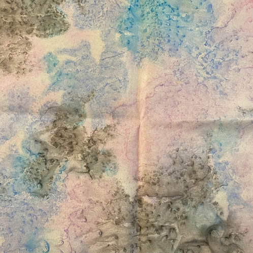 "Prayer Scarf Item 122 Blue, pink, gray- large, 10.25"" x 57.75"""