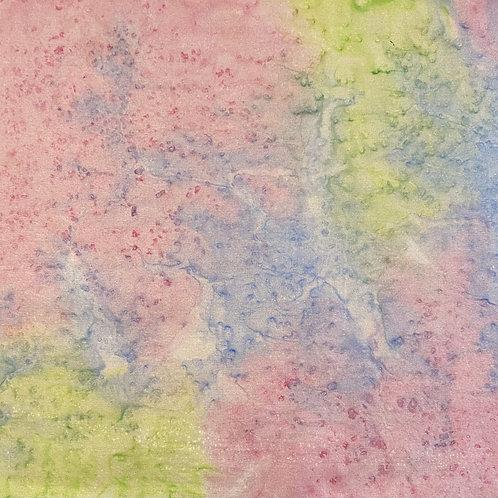"Prayer Scarf Item 107 Pink, blue, green - large, 10"" x 57.75"""