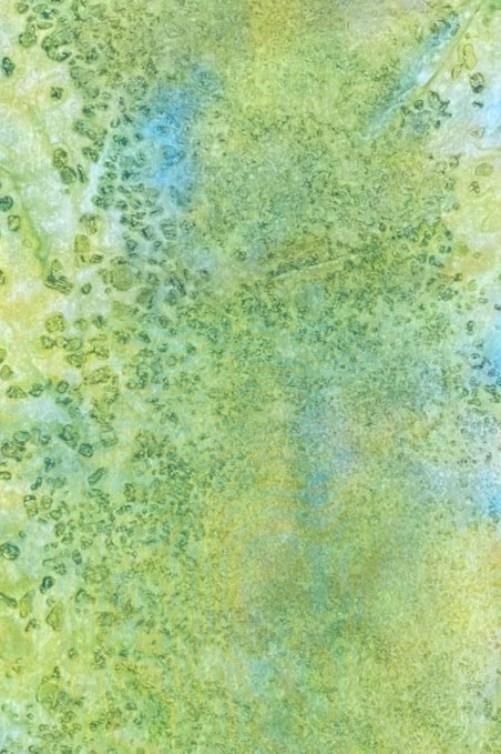"Prayer Scarf - Item 63 Green, yellow - Small 7.5 x 53"""