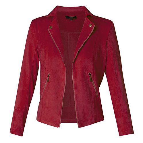 YEST FAUX SUEDE JACKET WARM RED
