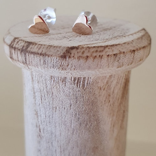 STERLING SILVER AND ROSE GOLD STUD EARRINGS