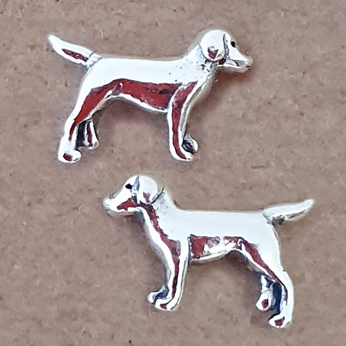 Dog earrings Sterling silver 925