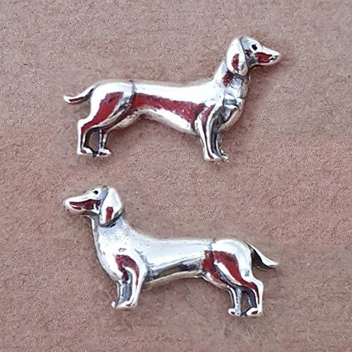 Dachshund earrings Sterling silver 925