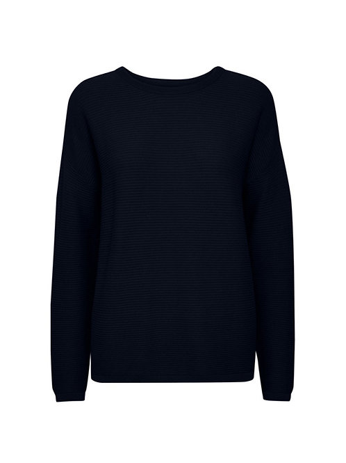 FRANSA RIB KNIT SWEATER NAVY