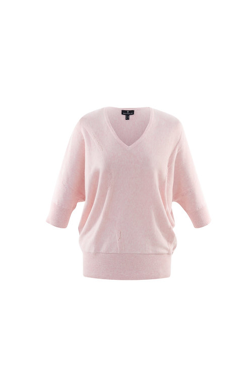 MARBLE SOFT PINK BATWING KNIT