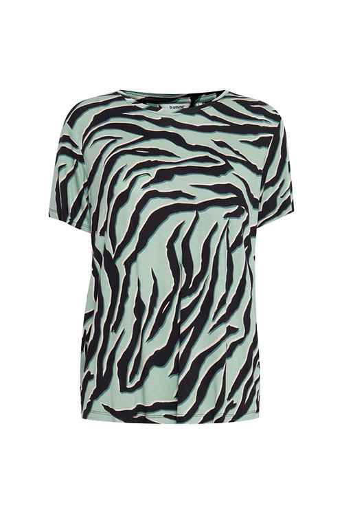 SILKY ANIMAL PRINT TEE SURF BLUE