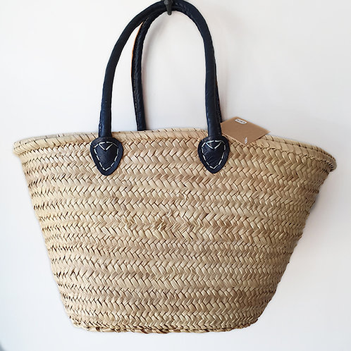 Navy Shopper with Navy handles and cover inside