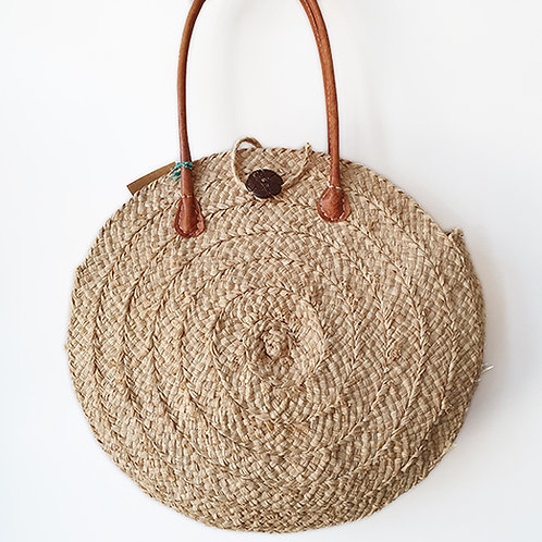 Circular bag with Coconut Shell Button