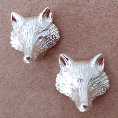 Fox mask earrings Sterling silver 925