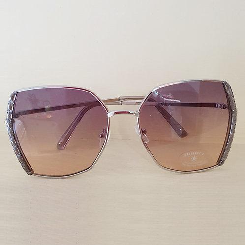 70's style graduated lens Sunglasses in Smokey Purple