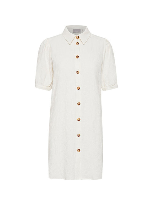 FRANSA BUTTON THROUGH TUNIC WITH PUFF SLEEVE
