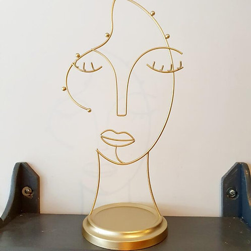 ABSTRACT FACE JEWELLERY HOLDER