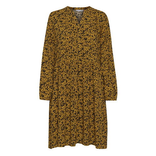 FRANSA GOLD & BLACK PRINT DRESS