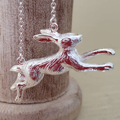 Running Hare Necklace Sterling silver 925