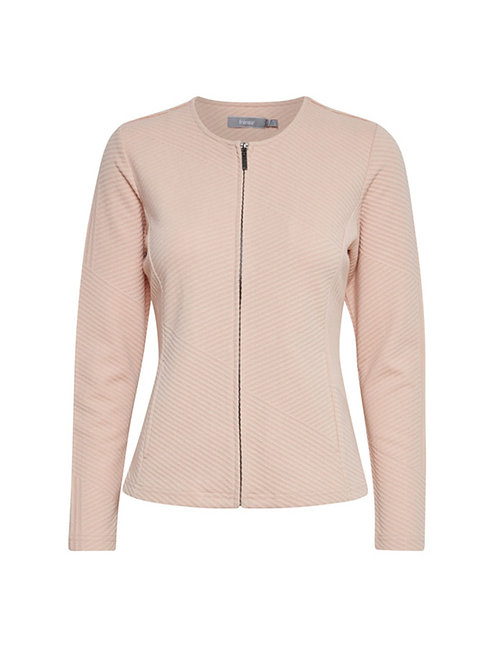 FRANSA ZIP THROUGH CARDIGAN MISTY ROSE