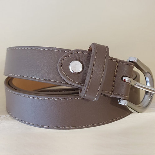 Real leather belt in Taupe