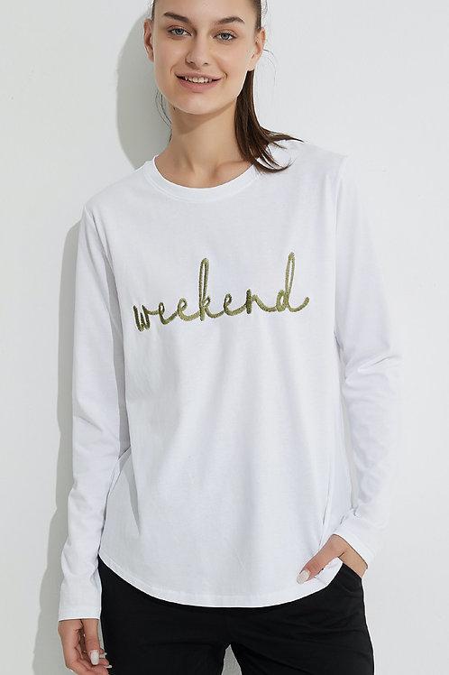 TIRELLI EMBROIDERED TEE WHITE / GREEN