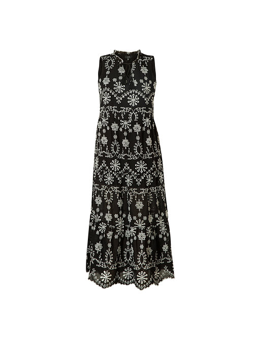 YEST EMBROIDERED MAXI DRESS