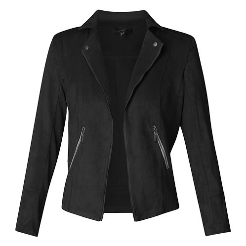 YEST FAUX SUEDE JACKET BLACK