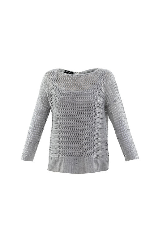 MARBLE SILVER GREY TWO PIECE KNIT