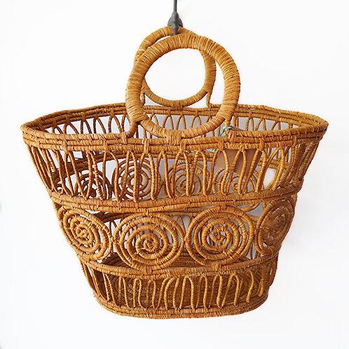 Open weave Brown basket