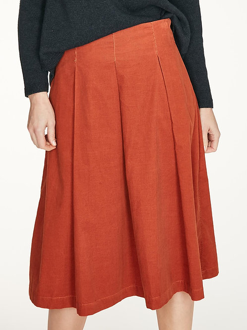 THOUGHT HIRAM CORD SKIRT IN SPICED ORANGE (WWB4945)