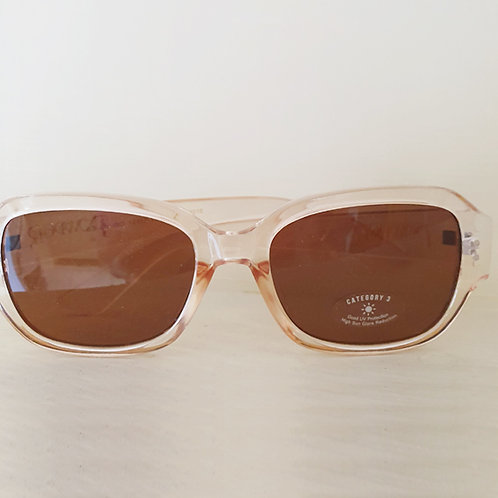 Clear peach frame Sunglasses