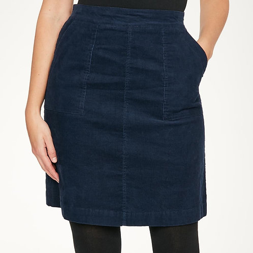 THOUGHT BLUEBERRY CORD SKIRT. (WWB5078)