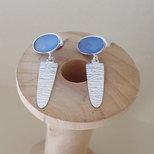 Chalcedony Sterling Silver drop earring