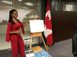 Painting @ the Canadian Black Caucus