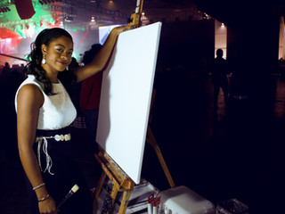 Brush in-hand on New Year's | Open Heavens Live Art