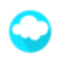 This is an example of a very simple logo. Happy clouds, always fun to look at